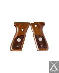 Beretta WOOD GRIPS W/MEDALLION 92/96/98