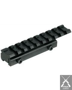 Adapter van 11mm naar 20mm rails