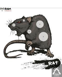 RAM schietkaart RAT 14x14cm