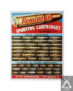 Metalen Plaat Remington Cartridges