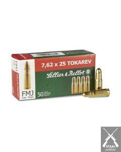 Sellier & Bellot 7,62x25 Tokarev FMJ 85 grain