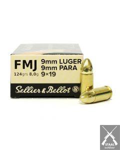 Sellier & Bellot 9mm Luger FMJ 124 grain