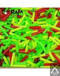 Schietpijpjes Gekleurd Plastic - 100 stuks